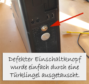 Super PC Reparatur wegen defekten Startknopf LA51