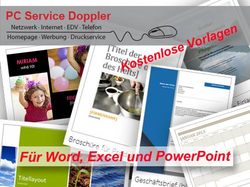 Kostenlose Vorlagen für Word, Excel und Powerpoint